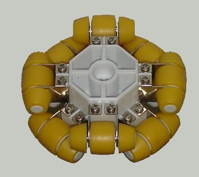 omniwheel or holonomic wheel that is LEGO Mindstorm RCX NXT compatible - isometric view